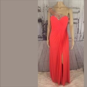 FORMAL PROM PAGEANT DRESS ONE SHOULDER 12 JEWELS
